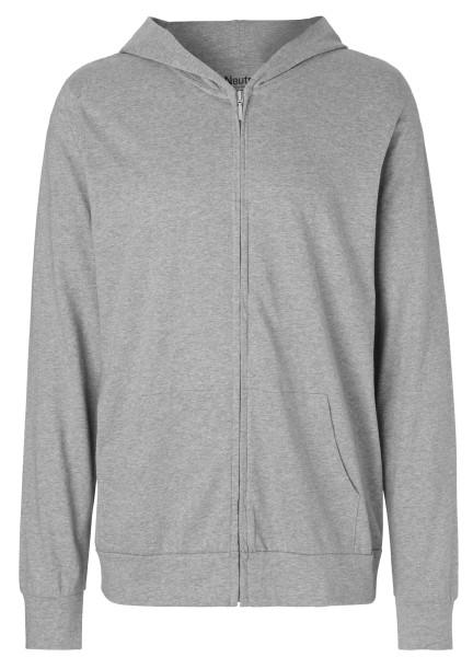 Jersey Zip-Jacke grau Biobaumwolle - O62301