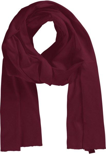 Fairtrade Schal aus Bio-Baumwolle - bordeaux - Bild 1