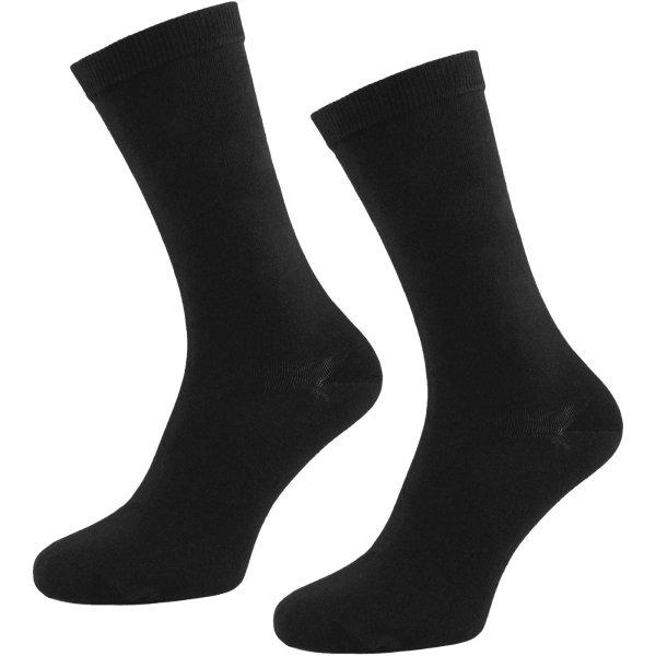 Socken aus Bio-Baumwolle - 2er Pack - schwarz