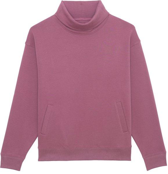 Unisex Rollkragen-Sweatshirt aus Bio-Baumwolle - mauve
