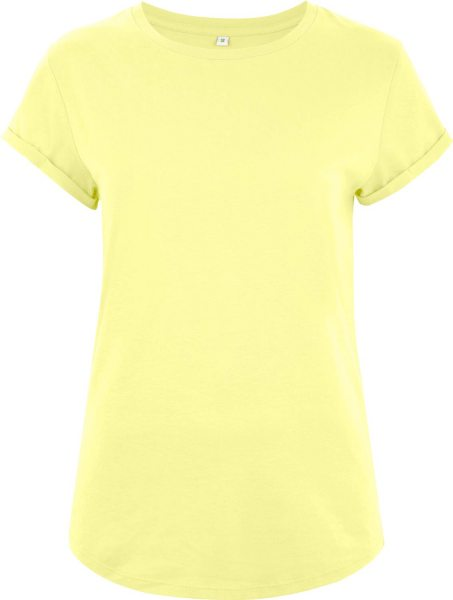 Organic Rolled Sleeve T-Shirt - pale lemon