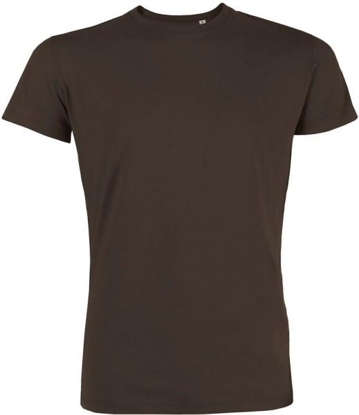 Leads - Kurzarmshirt aus Bio-Baumwolle - chocolate