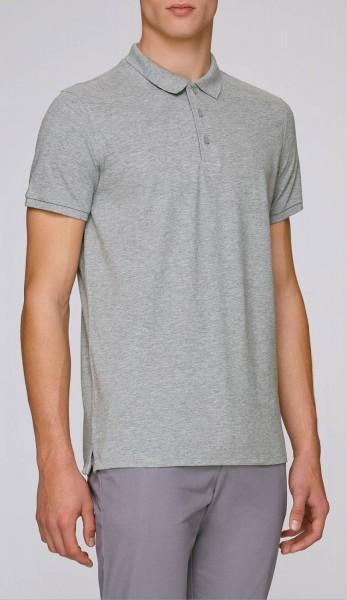 Competes - Klassisches Poloshirt aus Bio-Baumw. - grau-meliert - Bild 1
