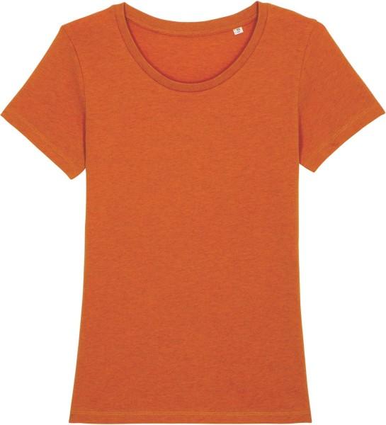 T-Shirt aus Bio-Baumwolle - black heather orange