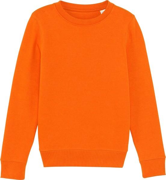 Kinder Sweatshirt aus Bio-Baumwolle - bright orange