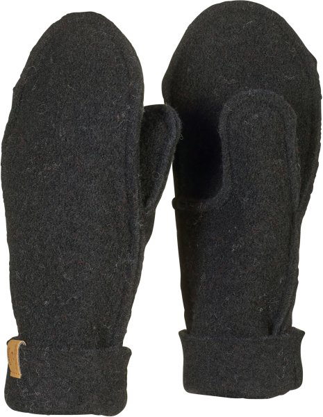 Fäustlinge aus Wolle - black