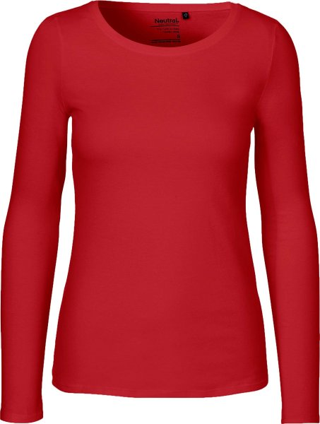 Neutral - Damen Longsleeve - rot