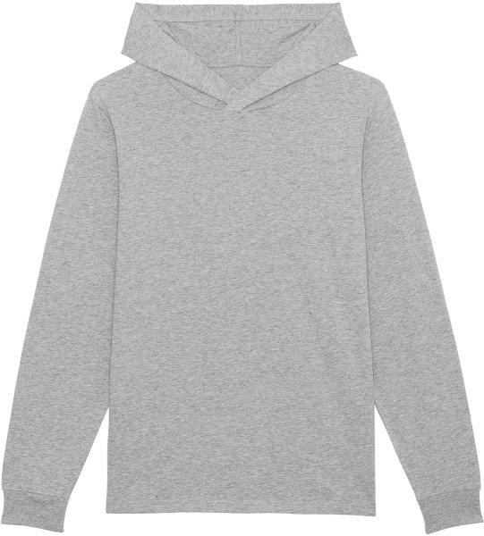 Unisex Jersey-Hoodie aus Bio-Baumwolle - heather grey
