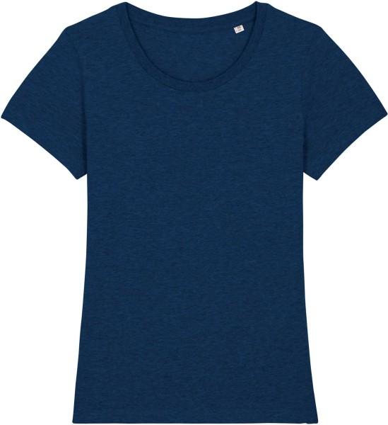 T-Shirt aus Bio-Baumwolle - black heather blue