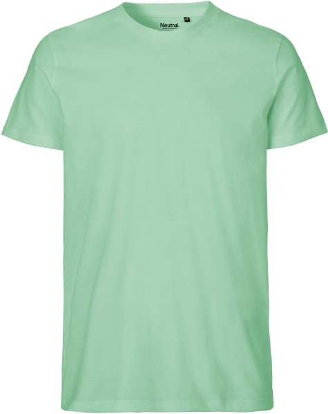 Fitted T-Shirt aus Fairtrade Bio-Baumwolle - dusty mint