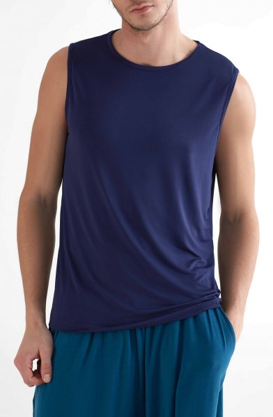 Active Tank Top aus Recycle-Polyester - navy