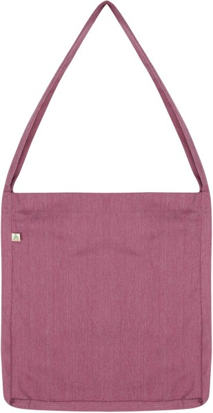 Recycled Sling Bag aus Baumwolle & Polyester - melange plum - Bild 1
