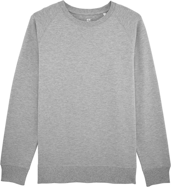 Piqué-Sweatshirt aus Bio-Baumwolle - heather grey