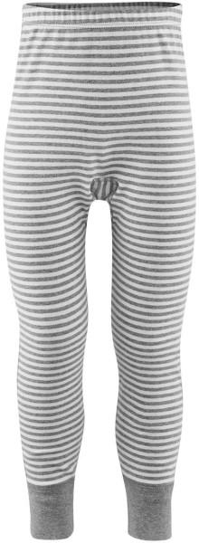 Kinder Lange Unterhose Bio-Baumwolle - grey/white striped - Bild 1