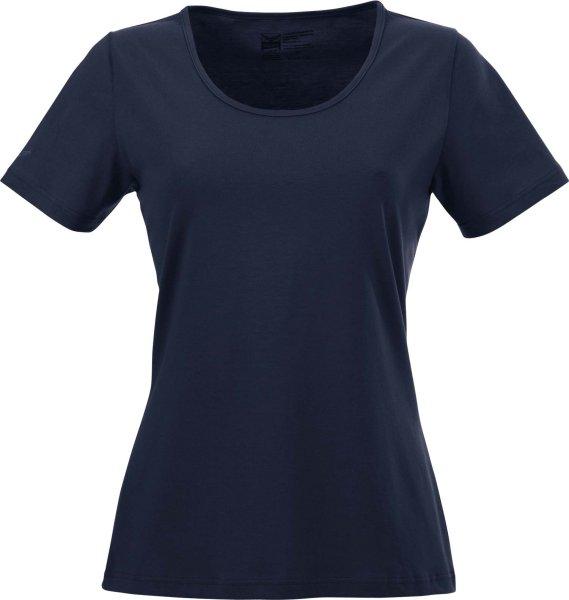 Change - T-Shirt mit weitem Ausschnitt - Biobaumwolle navy - Bild 1