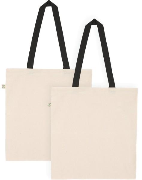 Doppelpack - Organic Cotton Bag - natur-schwarz