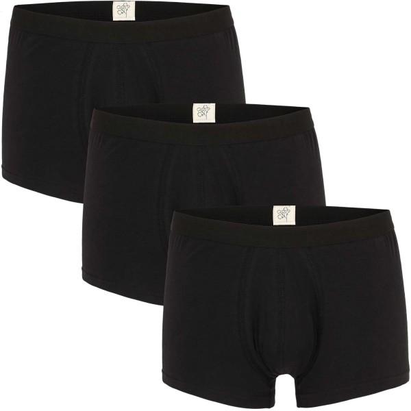 Trunk-Shorts aus Bio-Baumwolle - schwarz - 3er-Pack
