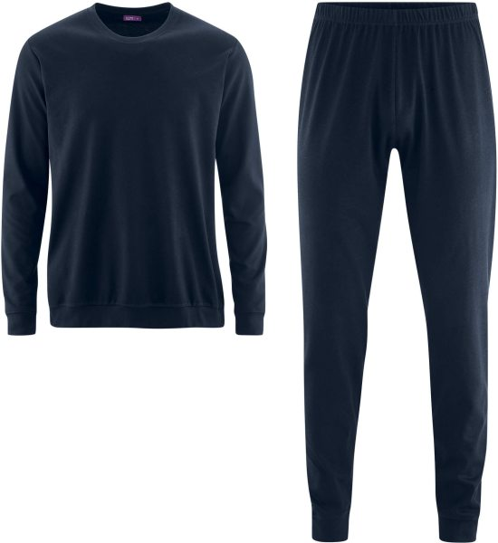 Männer Schlafanzug aus Bio-Baumwolle - navy - Bild 1