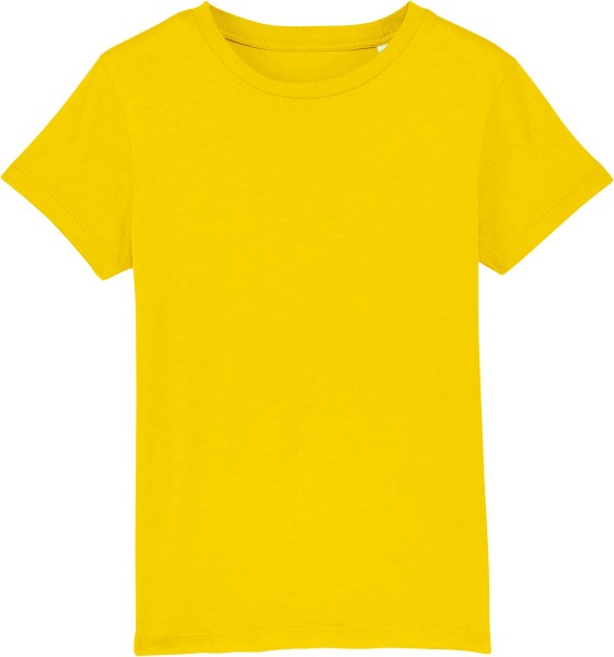 Kinder T-Shirt aus Bio-Baumwolle - golden yellow