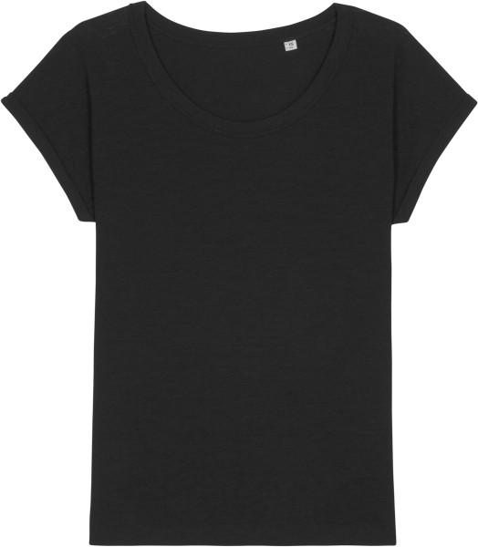Slub T-Shirt aus Bio-Baumwolle - black