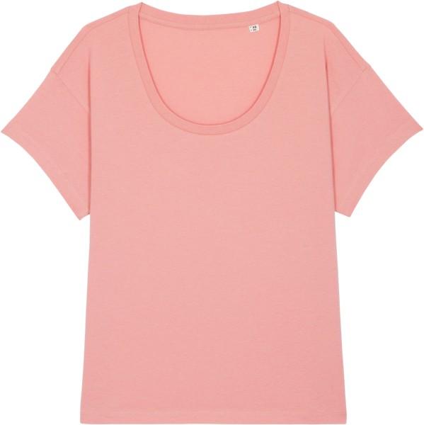 Weites T-Shirt aus Bio-Baumwolle - canyon pink