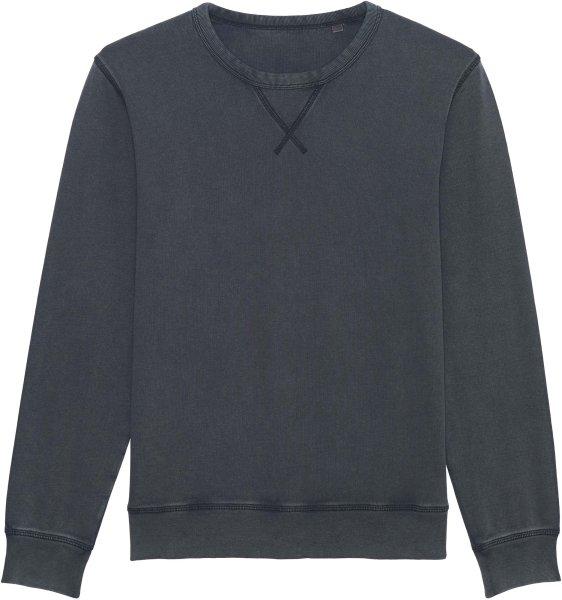 Vintage Sweatshirt aus Bio-Baumwolle - g. dyed aged india ink grey