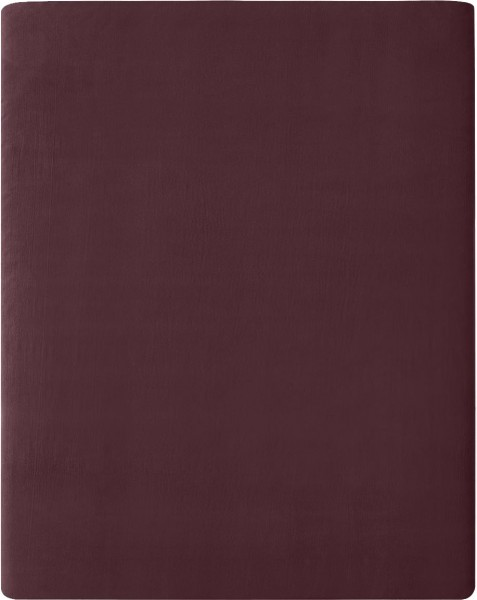 Flanell-Spannbetttuch aus Bio-Baumwolle 160x200cm - barolo