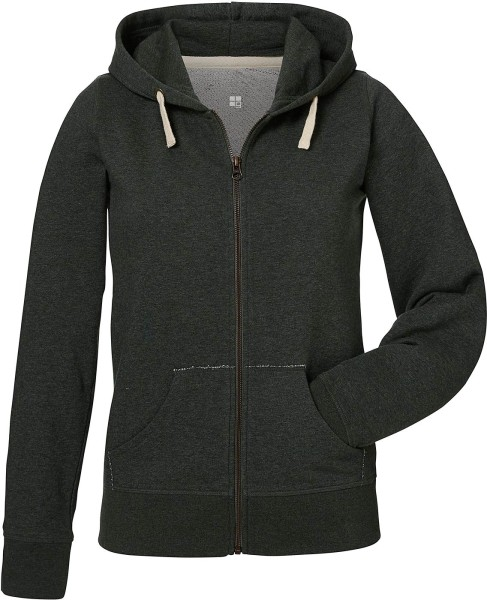 Kapuzenjacke Bio-Baumwolle - dark heather grey