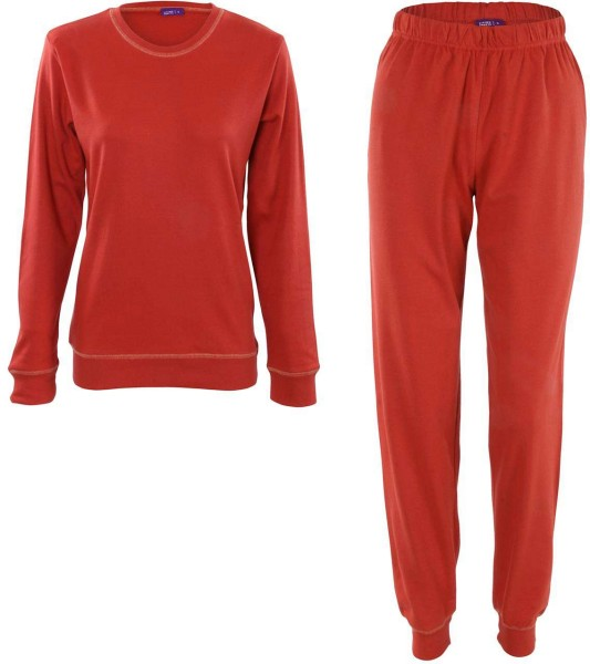 Frauen Schlafanzug aus Bio-Baumwolle - cayenne - Bild 1