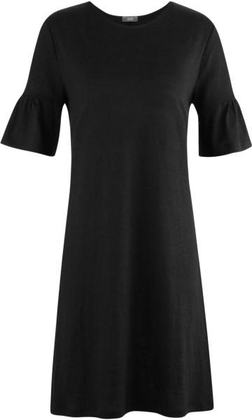 Kleid aus 100% Bio-Leinen – schwarz