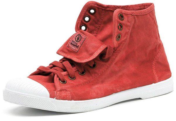 Bota Sport Enzimatico - Hohe Sneakers Bio-Baumwolle - fresa - Bild 1