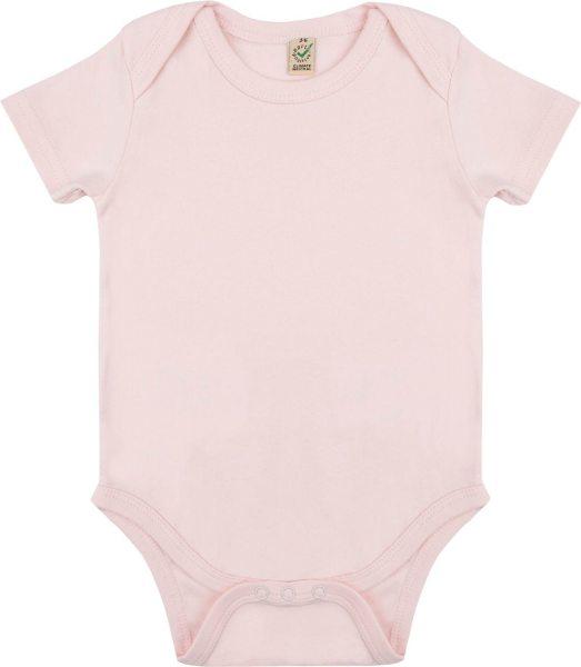 Baby kurzarm Body aus Bio-Baumwolle - powder pink - Bild 1