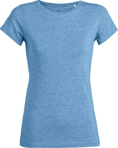 Wants - T-Shirt aus Bio-Baumwolle - blau-meliert - Bild 1