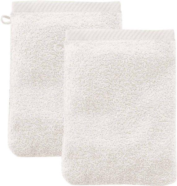 Doppelpack Waschhandschuhe aus Bio-Baumwolle 22x16 cm natur - Bild 1