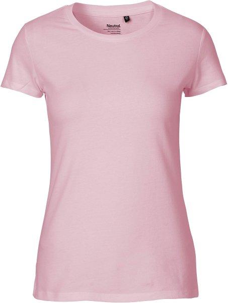 Fitted T-Shirt aus Fairtrade Bio-Baumwolle - lightpink