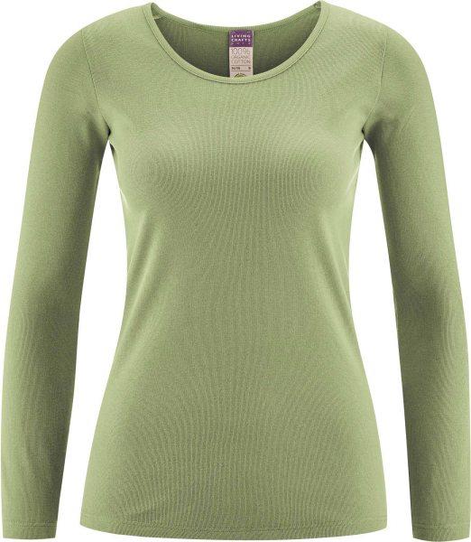 Langarm-Unterhemd aus Bio-Baumwolle - pistachio