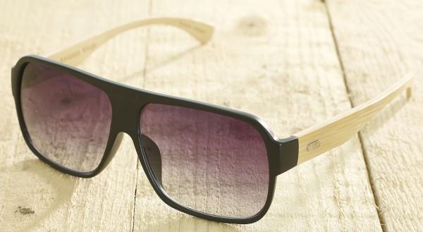 Venice - Sonnenbrille aus recyl. Kunststoff & Bambus - black - Bild 1