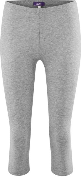 3/4 Leggings aus Bio-Baumwolle - stone grey