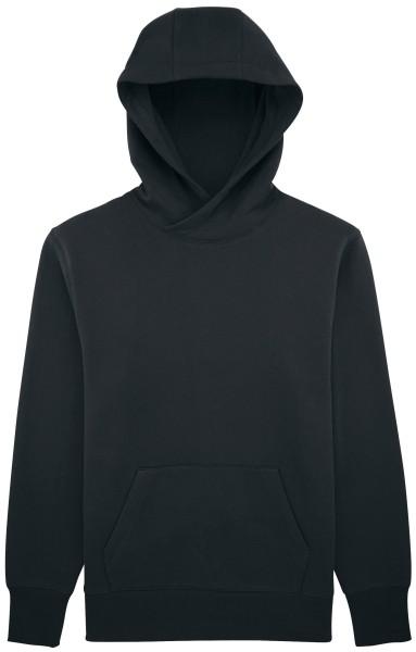 Kapuzenpullover Bio-Baumwolle schwarz locker fair