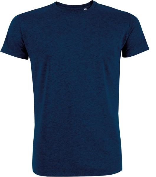 T-Shirt Bio-Baumwolle - black heather blue
