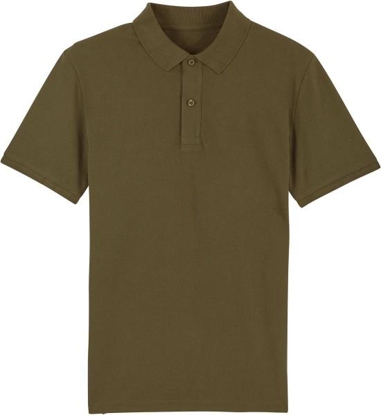 Piqué-Poloshirt aus Bio-Baumwolle - british khaki