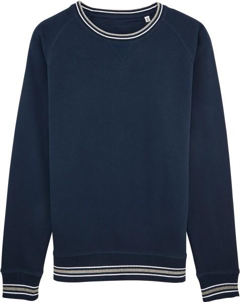 Sweatshirt mit Kontrastbündchen - Rückansicht