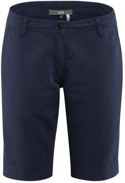 Bermuda-Shorts Bio-Baumwolle und Leinen - navy