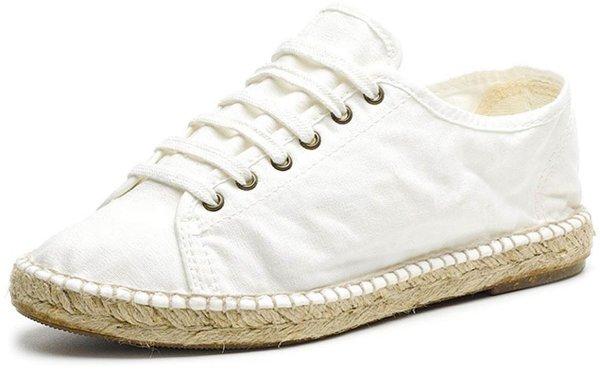 Basket Yute - Schnürschuhe aus Bio-Baumwolle - blanco - Bild 1