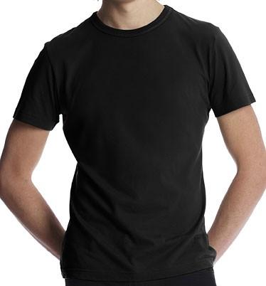 Slim-Fit Jersey T-Shirt schwarz - Bild 1
