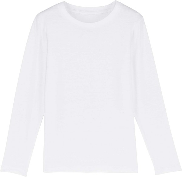 Kinder Longsleeve aus Bio-Baumwolle - white