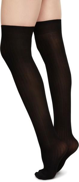 Ella Rib Over-Knee - Overknees - black