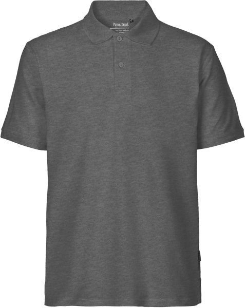 Classic Polo-Shirt aus Fairtrade Bio-Baumwolle - dark heather