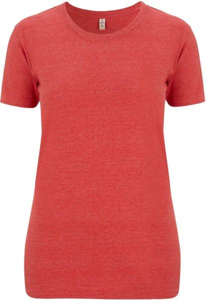 Recycled T-Shirt aus Baumwolle und Polyester - melange red - Bild 1