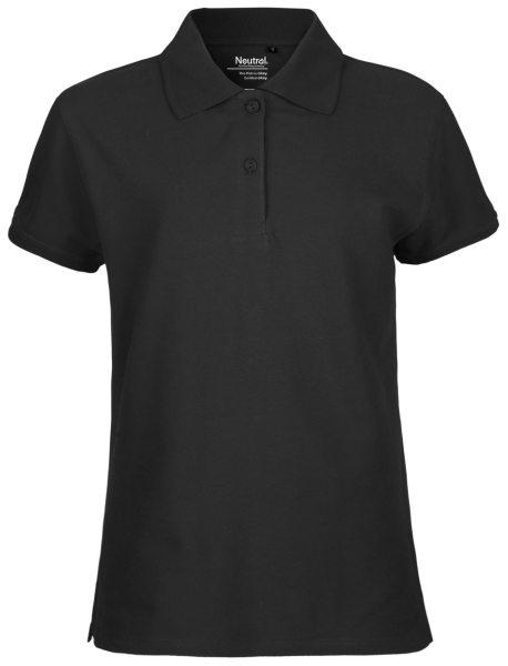 Polo-Shirt schwarz Fairtrade Damen O22980